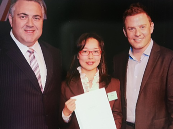 ASAMI with HON JOE HOCKEY former MP : North Sydney Community Award